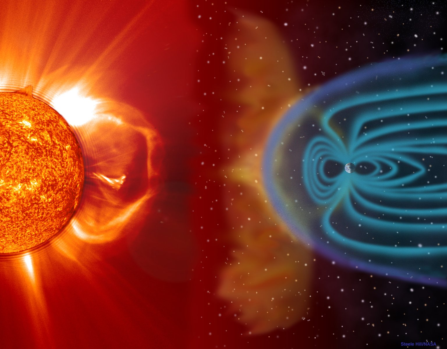 SPACE WEATHER illustration by NASA Images